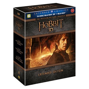 Hobbitten - Trilogy 3D Extended Edition Blu-Ray