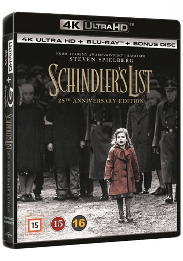 Schindler's List - 25Th Annivesary Edition - 4K Ultra HD Blu-Ray