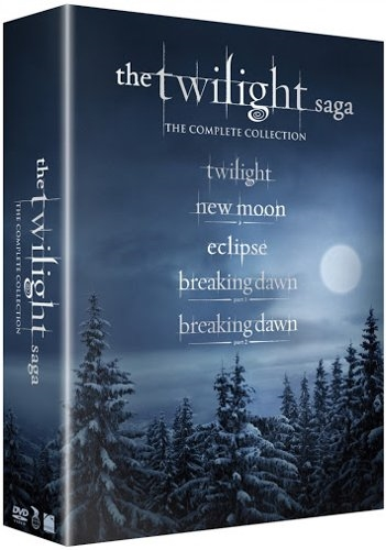 The Twilight Saga - New Moon / Eclipse / Breaking Dawn - Part 1 Og 2 - Blu-Ray